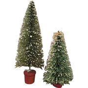 Miniature Doll House Flocked Brush Bottle Trees