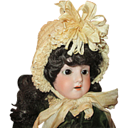 Antique Silk Doll Bonnet