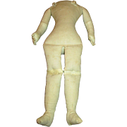 Antique Cloth Doll Body with Leather Arms