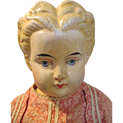 Thank you KS - Primitive Antique Paper Mache Head Doll