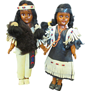 Two Vintage Indian Dolls for Your Thanksgiving Decor