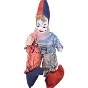 Sweet Vintage Cloth Clown Doll