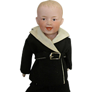 Antique Smiling Heubach Character Doll is Darling Outfit