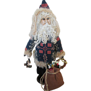 Artist Made Santa Claus Doll with Sculpted Face