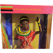 Kenyan Barbie Doll - Part of the Limited Edition of Dolls Of The World by Mattel