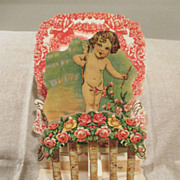 Victorian Fold-Out Valentine - 3 Layers - Cupid
