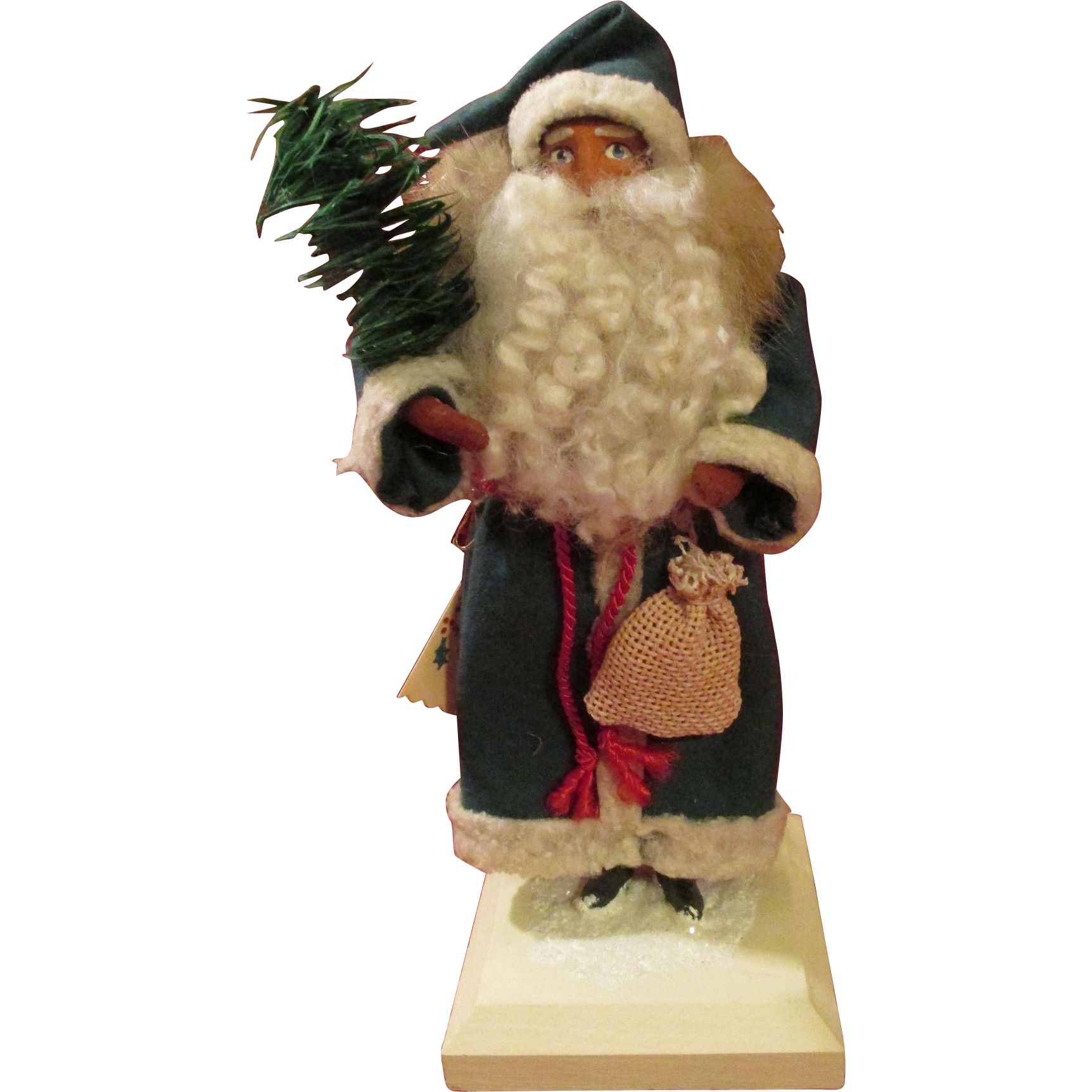 Artist Clay Faced Santa - Signed