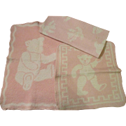 Group of 3 Eiderdown Doll Blankets for your Dy-Dee Baby - Red Tag Sale Item