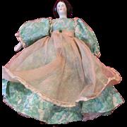 "Pretty 9"" China Head Doll in Delightful Dress"