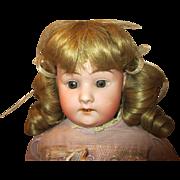 """Antique 24"""" Schoenau and Hoffmeister Bisque Head Doll"""