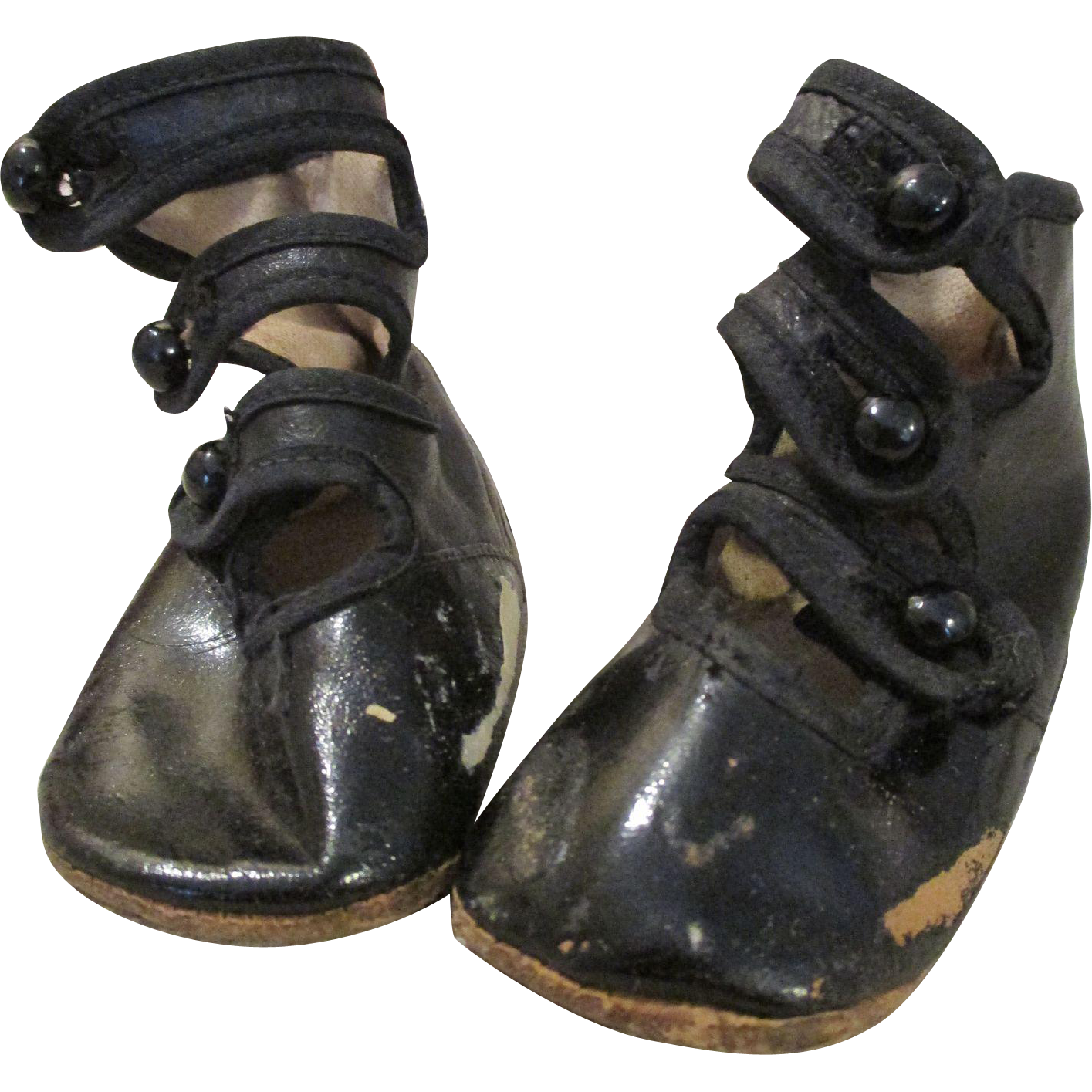 Antique Tri Button Baby Shoes For Your Antique Doll From