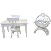 White Furniture for your Doll House