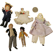 Assortment of Vintage Doll House Dolls