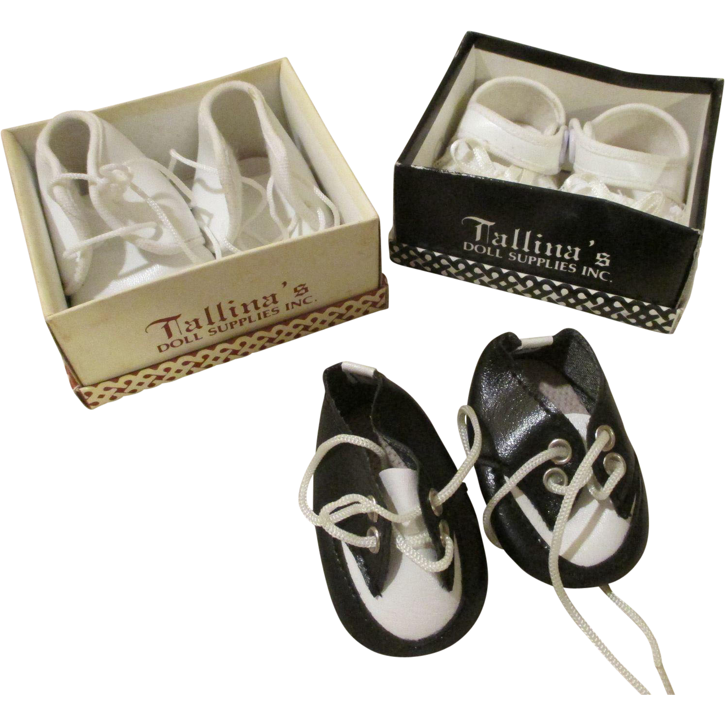 Three Pairs of Doll Shoes for Your Boy or Baby Dolls