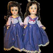 Pair of Vintage Toni P-90 dolls