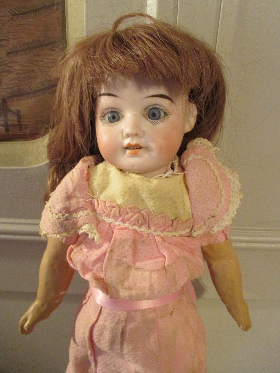 "Pretty 16"" Antique German Doll - Marked 50 4/0 X"