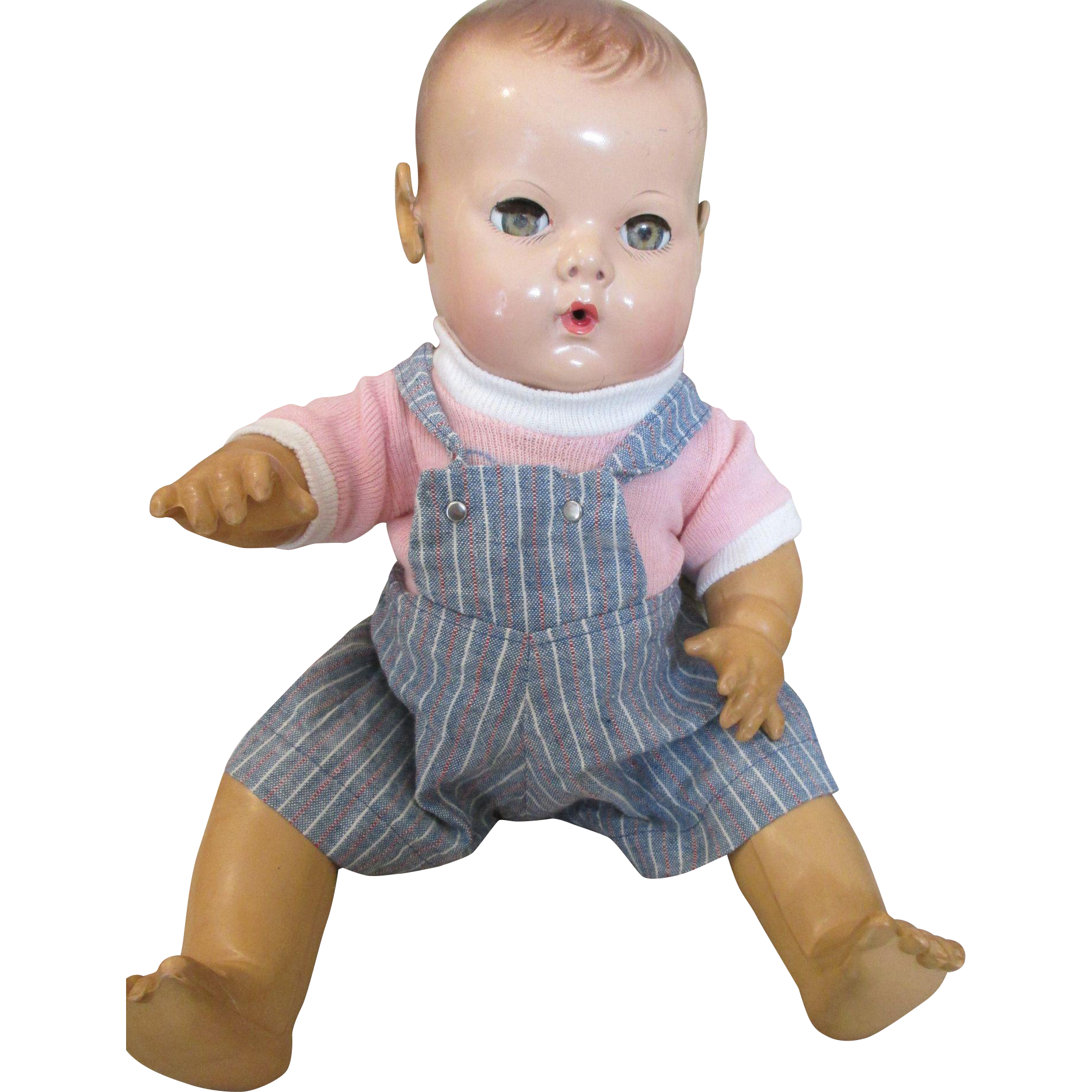 Vintage Bib Overalls and Blouse for Your Vintage Baby Doll