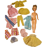 Vintage Tammy Doll with Extra Clothing