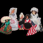 Vintage Hard Plastic Doll House Dolls