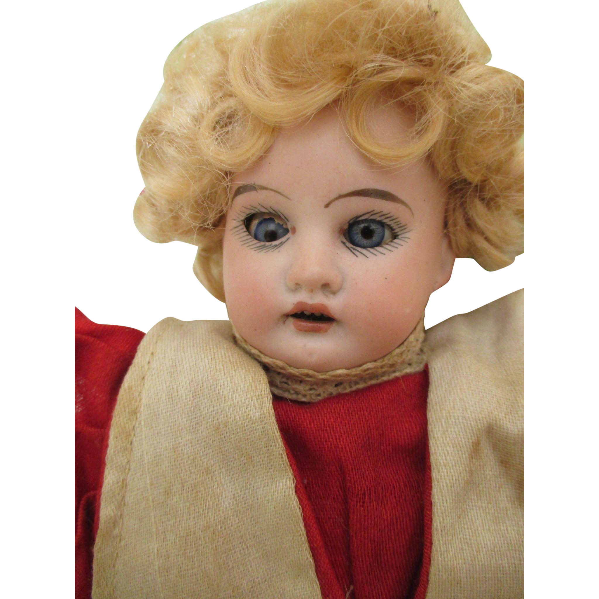 Antique Bisque Shoulder Head Doll on Kid Leather Body