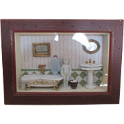 Wonderful Doll Miniature Diorama Framed Miniature Scene