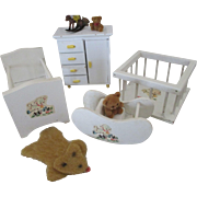 Sweet Vintage Doll House Nursery Set