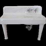 Miniature Doll House Porcelain Farmhouse Sink