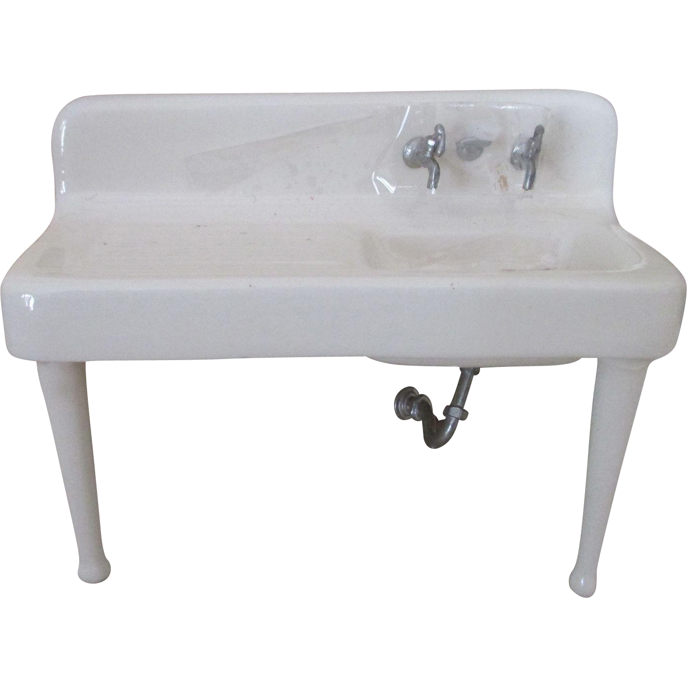 Mini Farmhouse Sink : Miniature Doll House Porcelain Farmhouse Sink from nostalgicimages on ...