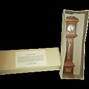 Sonia Messer Miniature Grandfather Clock in Original Box