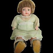 Adorable Vintage Composition Baby Doll in Original Dress