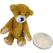 Amazing Miniature Teddy Bear for your Antique Doll or Doll House