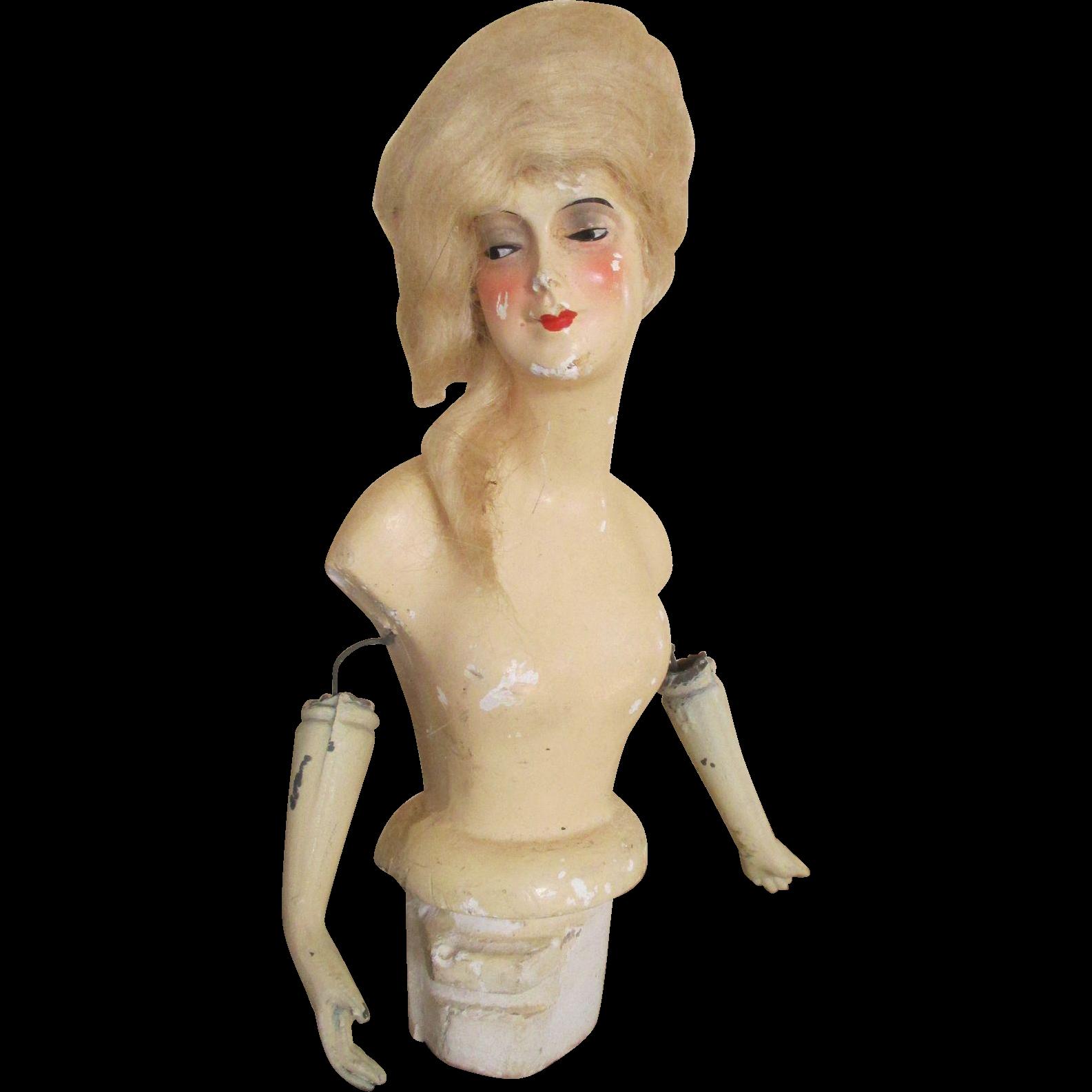 Antique Munzerlite Lamp Doll