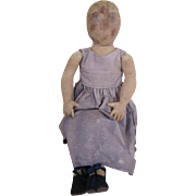 "Large Cloth Artist Doll 29"" Tall"
