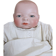 Antique German Bisque Head Baby Doll with Frog Body