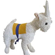 Vintage Plush Goat for Your Doll's Companion