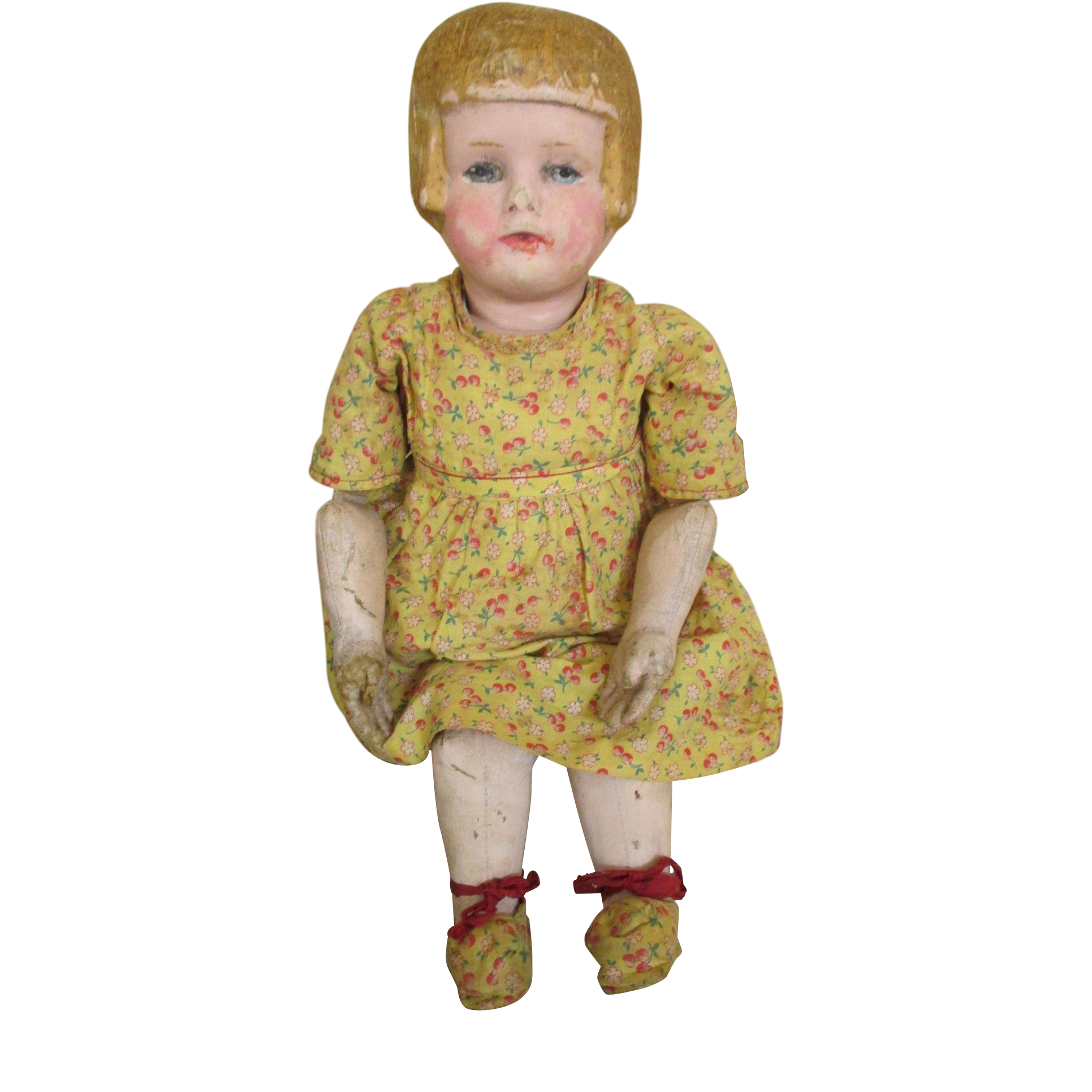 Antique Bobbed Hair Chase Doll in Original Outfit