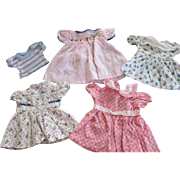 Group of Vintage Doll Dresses for Dy Dee Baby, Tiny Tears, or Other Vintage Dolls
