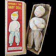 "Tiny Vintage 4"" Doll in Original Box"