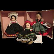 Group of 3 Madame Alexander Dolls