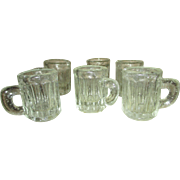 Group of 6 Miniature Beer Mugs for Your Doll House Kitchen