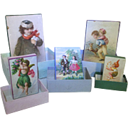 Group of 5 Antique Nesting Boxes for Your Doll
