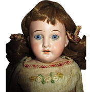 Adorable Antique C.O.D. Bisque Shoulder Head Doll on Leather Body