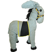 Vintage Plush Donkey For Your Antique Doll