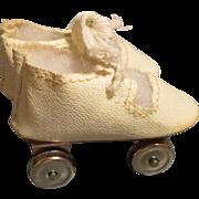 Vintage Oil Cloth Doll Roller Skates
