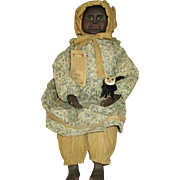 Beautiful Black Folk Art Doll - Lovely Features