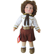 All Original Lenci Boy Doll With Original Hang Tag