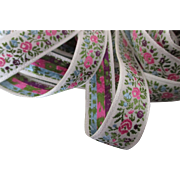 Vintage Floral Ribbon For Making Doll Clothes and Hats