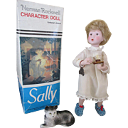 Vintage Norman Rockwell Character Doll - Sally - Looking For Santa