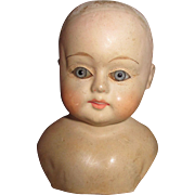 Antique Paper Mache Doll Head - Sweet Face