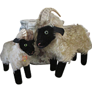 Pair of Steiff Billy Goats - Perfect Doll Props